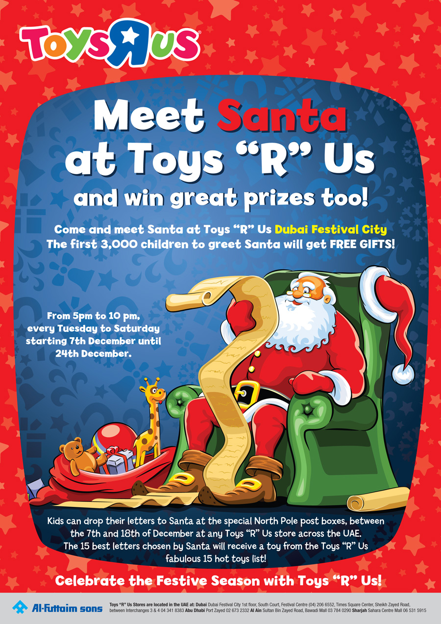 Meet and greet santa at toys r usdubai festival city mumtourage advertisements spiritdancerdesigns